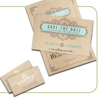 Brown Kraft Announcement Cards