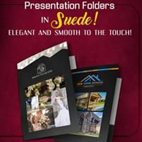 Suede (Soft Velvet Lamination) Presentation Folders