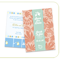 Pearl Metallic 14PT Announcement Cards