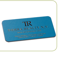 Silk Laminated Foil Slim Business Cards
