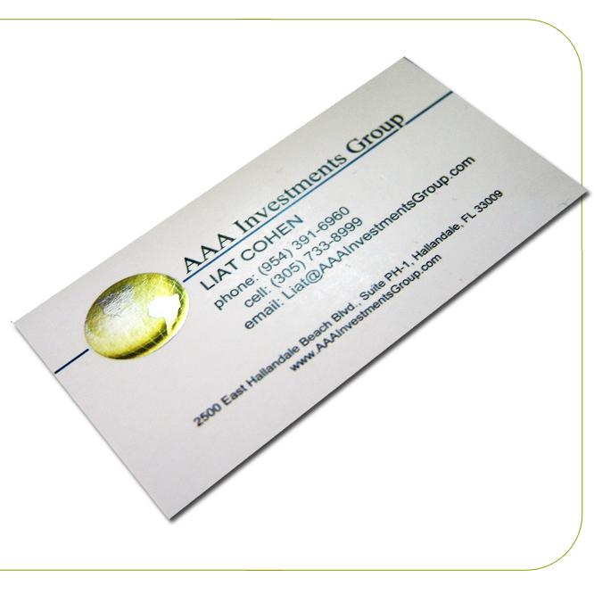 14PT Uncoated Foil Slim Business Cards