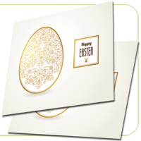 14PT Uncoated Foil Square Cards