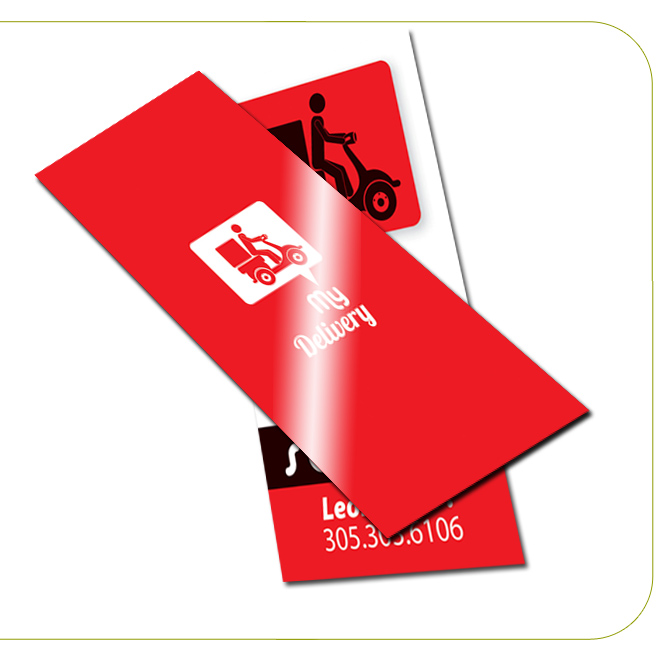 Luster (Gloss Laminated) Slim Business Cards