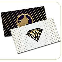 Suede Business Cards Raised Foil